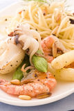 Spaghetti with Seafood Royalty Free Stock Image
