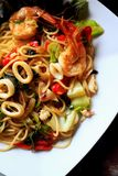 Spaghetti seafood Royalty Free Stock Photography
