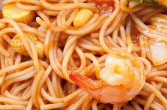Spaghetti seafood Stock Photo