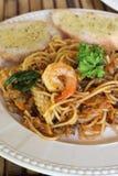 Spaghetti seafood. Royalty Free Stock Photos