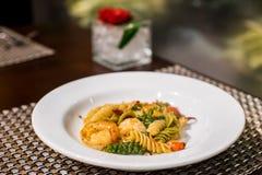 Spaghetti. Seafood spaghetti on the plate Stock Photo
