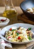 Spaghetti seafood royalty free stock photo