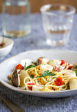 Spaghetti seafood royalty free stock image