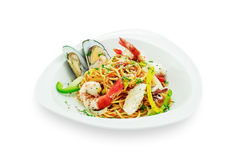 Spaghetti with seafood Royalty Free Stock Photo