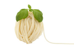 Spaghetti in shape ball Stock Photos