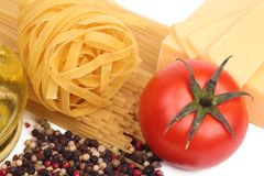 Spaghetti with some objects Stock Image