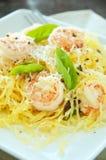 Spaghetti Squash & Shrimp Stock Photo