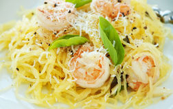 Free Spaghetti Squash & Shrimp Stock Images - 27217764