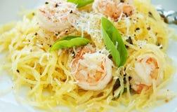 Spaghetti Squash & Shrimp Stock Images