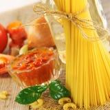 Spaghetti still life Stock Image