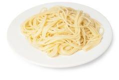 Spaghetti su un piatto Fotografia Stock