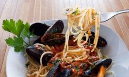 Spaghetti su una forcella Fotografia Stock Libera da Diritti