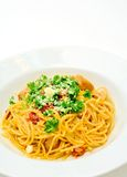 Spaghetti with sun-dried tomatoes Royalty Free Stock Images