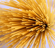 Spaghetti sunray spray. Group of dry spaghetti in a spray pattern Royalty Free Stock Images