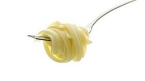 Spaghetti sur une fourchette photographie stock libre de droits