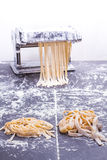 Spaghetti and tagliatelle Stock Photos