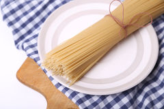 Spaghetti on textile Royalty Free Stock Images