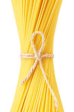 Spaghetti tied up by a rope Royalty Free Stock Photo