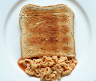 Spaghetti toast Royalty Free Stock Image