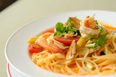 Spaghetti Tom Kung Yum Zdjęcia Stock