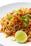 Spaghetti Tom Yum Kung Royalty-vrije Stock Afbeeldingen