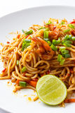 Spaghetti Tom Yum Kung Royalty Free Stock Images
