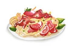 Spaghetti-Tomaten sause Lizenzfreies Stockfoto