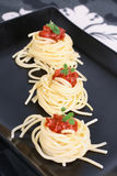 Spaghetti with tomato Royalty Free Stock Image