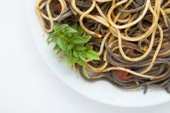 Spaghetti in tomato Stock Image