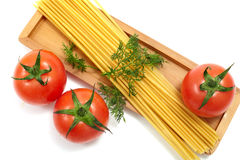 Spaghetti and tomato Royalty Free Stock Image