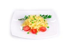 Spaghetti with tomato basil. Royalty Free Stock Photo