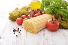 Spaghetti and tomato Stock Image