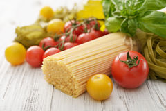 Spaghetti and tomato Royalty Free Stock Images