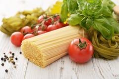 Spaghetti and tomato Stock Photo