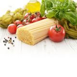 Spaghetti and tomato Stock Images