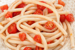 Spaghetti with tomato Royalty Free Stock Images