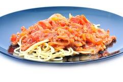 Spaghetti with tomato pork sauce Royalty Free Stock Image