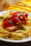 Spaghetti with tomato sauce Royalty Free Stock Image