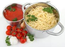 Spaghetti and tomato sauce Stock Photography