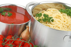 Spaghetti and tomato sauce Royalty Free Stock Photo