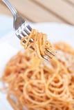 Spaghetti in tomato sauce Royalty Free Stock Photos