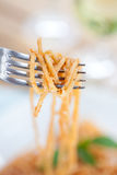 Spaghetti in tomato sauce Stock Photography