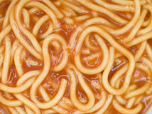 Spaghetti in Tomato Sauce Stock Photo