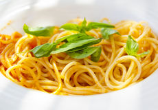 Spaghetti with Tomato Sauce Royalty Free Stock Images