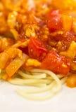 Spaghetti And Tomato Sauce. Stock Photos