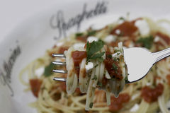 Spaghetti with tomato sauce Royalty Free Stock Photography