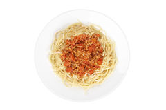 Spaghetti with tomato sauce and meat Stock Image