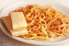 Spaghetti in tomato sauce Royalty Free Stock Photo