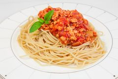 Spaghetti with tomato sauce. Stock Image