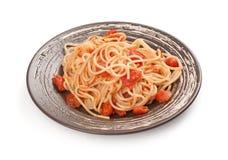 Spaghetti and tomato sauce Royalty Free Stock Photos